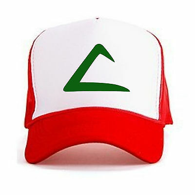 Retro POKEMON ASH KETCHUM Curved Bill Printed Hat Cap Pokemon GO