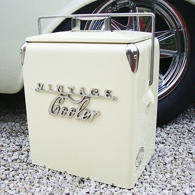 VINTAGE COOLER Coolbox CREAM Retro coca cola Coke Cool vw wedding present gift