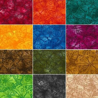100% Cotton Fabric By Fabric Freedom Melody Butterfly Butterflies Batik