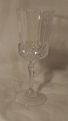 Cristal Cris D'Arques J.G. Durand Valencay Crystal Tall Water Goblet Glass (s)