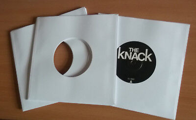 """50 of 7"""" vinyl record white paper sleeves 90 gsm fits in card sleeves"""