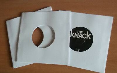 "40 of 7"" vinyl record white paper sleeves 90 Gsm fits in card sleeves"