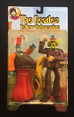 NIB - The Beatles Yellow Submarine George & Snapping Turk Action Figures Sealed