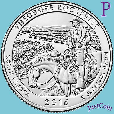 2016-P Theodore Roosevelt National Park (Nd) Quarter Uncirculated