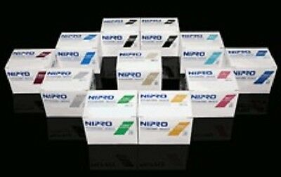 """Nipro 25G x 1 1/2 """" Hypodermic Needle -Box of 100- Comes in Sterile Blister Pack"""