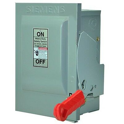 Siemens Hnf361 New 30A 600V 3 Phase Non-Fused Disconnect Nema 1 --Ses