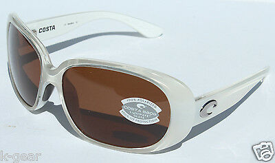 5ce57bcd0a059 COSTA DEL MAR Hammock 580 Sunglasses POLARIZED Sand White Copper 580G Glass  NEW