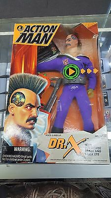 Action Man Dr. X With Electronic Brain And Laser Eye (In Box)