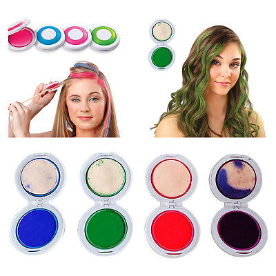 4 Colors Tiza Pelo Temporal Tinte De Cabello Kit Colores Salon Kit Hair