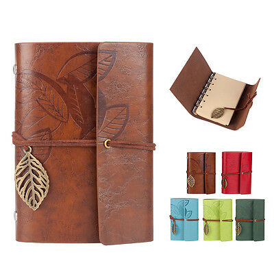 Classic Retro Vintage Notebook Leather Blank Diary Note Book Journal Sketchbook