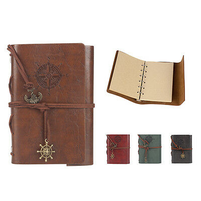 Classic Vintage Retro Journal Notebook Travel Leather Notepad Blank Diary Memo