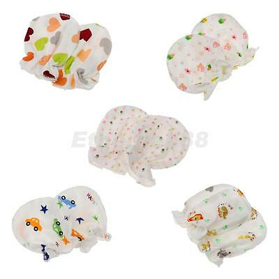 Soft Printed Anti Scratch Baby Mittens Mitts Cotton Gloves Baby Hand Care