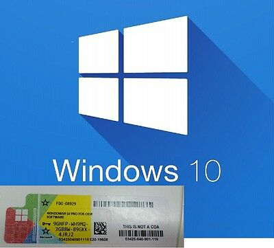 WINDOWS 10 Pro Professional 32/64 BIT Licenza Product Key FULL OFFERTA MICROSOFT