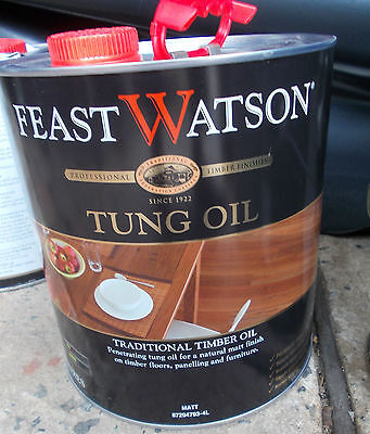 Feast Watson TUNG OIL 4 Litre can Pick up only Rooty Hill nsw 2766