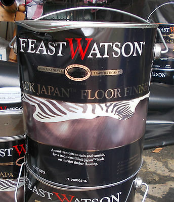 Feast Watson BLACK JAPAN FLOOR FINISH 4 Litre can Pick up only Rooty Hill  2766
