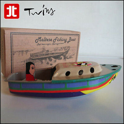 Pop pop Put Put Boat Malta Luzzu real steam engine and sound collectable Tin Toy
