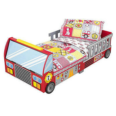 Fire Truck Toddler Bed Red Wooden Kidkraft Young Boys Sleeping Cot Kidsroom