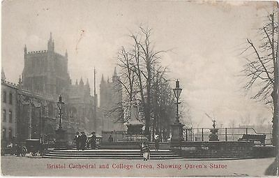 POSTCARD  BRISTOL  Cathedral and College Green