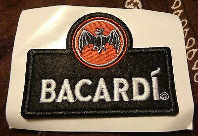 Bacardi Bat Logo Patch/Sticker for clothing....NEW
