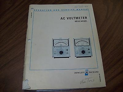 HP 400E/400EL AC Voltmeter Operating and Service Manual.