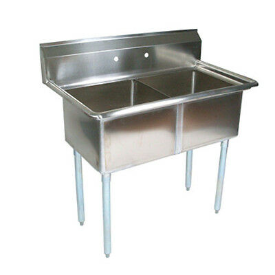 John Boos E2S8-1620-12 E-Series Two Compartment Sink