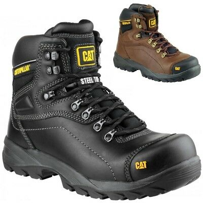 MENS Caterpillar Diagnostic S3 WOMENS WIDE SAFETY STEEL TOE CAP WORK BOOTS SZ6-8
