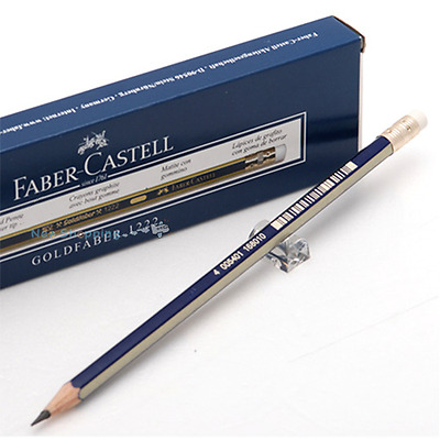 Faber Castell Goldfaber 1222 Pencils with Eraser Tip 1 Dozen -B-