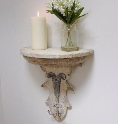 Shabby Chic Vintage Style Sconce Wall Shelf Display Wooden Bathroom Kitchen