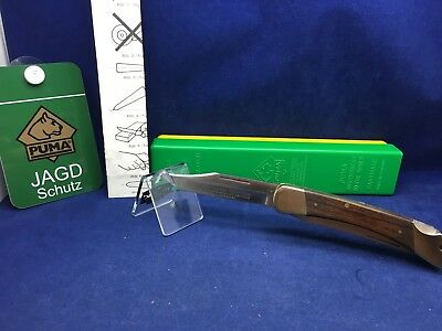 1985 Vintage Puma 972 Game Warden Knife & Jacaranda Handles Mint In Box #76