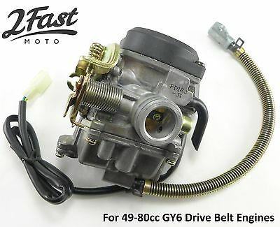 GY6 Carb Carburetor Drive Belt 49 80cc Replaces E-Ton Part# 813195 Booster Pump