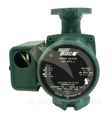 Taco 007 BF5-J Pump Outdoor Wood Boiler Furnace Better then 007-F5 & same HBF5-J