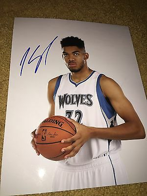 Karl Anthony Towns Signed Autographed 11X14 Photograph Timberwolves-Proof Photo