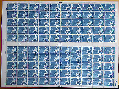 1975 Charity Stamp Set in Complete Sheet of 100 SG970 Cat £26 Superb M/N/H