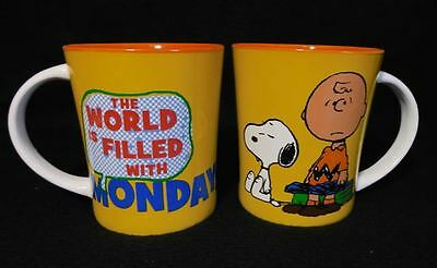 Peanuts Snoopy Charlie Brown Coffee Tea Cocoa Cup Mug - Filled With Mondays NEW