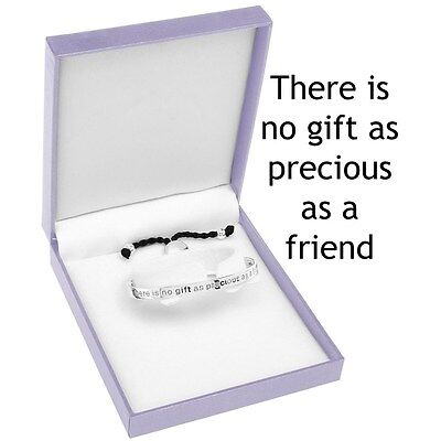 Equilibrium Silver Plated Half Bangle bracelet precious Friends Engraved gift