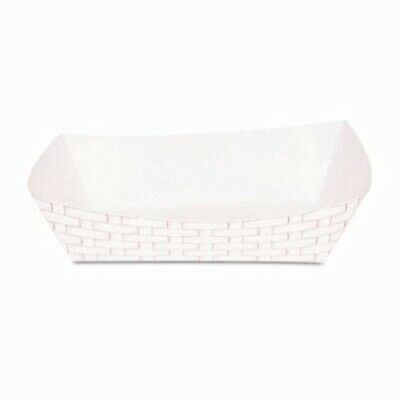Boardwalk Paper Food Baskets, 5lb Capacity, Red/White (BWK30LAG500)