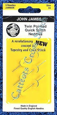 Twin Pointed Needles Size 24 Faster Cross Stitch Needle
