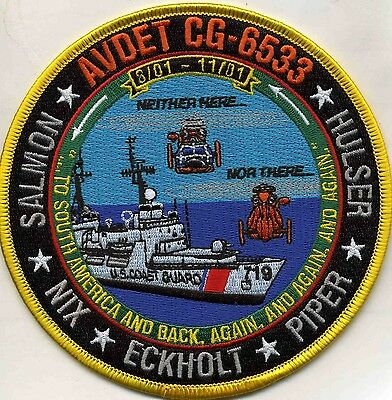 "USCG Coast Guard Patch - AVDET-6533 ""Neither Here Nor There"" (5"" round) (fire)"