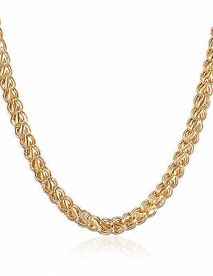 Heavy Solid Hallmark 22K Yellow Gold Dubai Lotus Unisex Chain Necklace 20 Inches