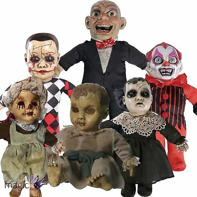 Scary Animated Talking Haunted House Baby Doll Halloween Horror Decoration Prop
