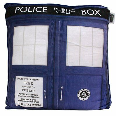 """Collectable Back to School Dorm Decol! Doctor Who TARDIS 15"""" Cushion"""