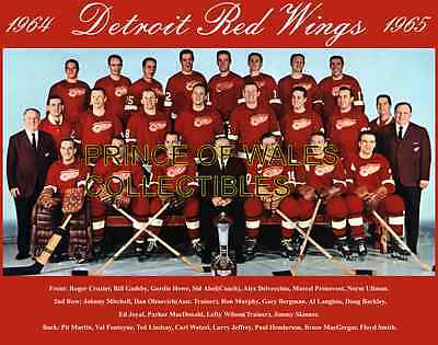 1965 Detroit Red Wings Team Photo 8X10