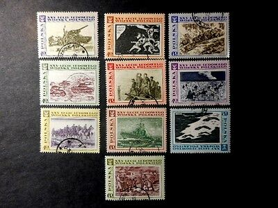 10 1968 Poland Stamps Used Never Hinged Condition Complete Set