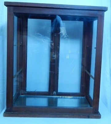 """Antique Bakers & Glass Country Store Showcase  22 1/2"""" H"""