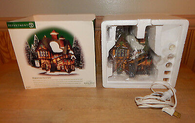 Department 56 Dickens' Village Series Wingham Lane Parrot Seller Excellent