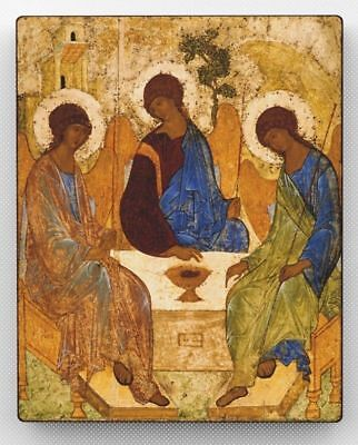 Russian Orthodox Icon The Holy Trinity. Andrei Rublev. Religious Icon. Handmade