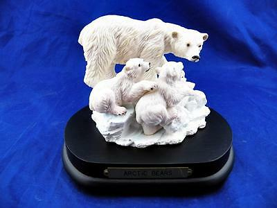 """Vintage Arctic Bears Music Box """"Families of the Wild Collection"""" EUC Free Ship!"""