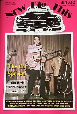 NOW DIG THIS magazine Issue 401 July 2016 1950s Rock 'n' Roll Elvis Presley