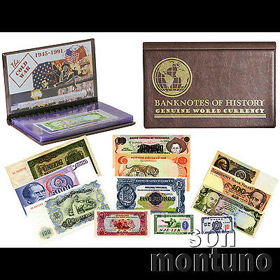 THE COLD WAR - A Collection of 12 Banknotes in Case - RUSSIA Soviet Union USSR