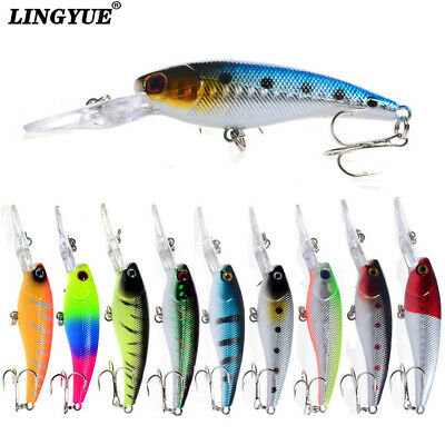 5pcs 8.5g/9cm 3D Minnow Lures  Hard pesca Leurre 6# Hook fishing tackle Bait